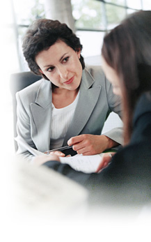 image of an employer conducting an interview