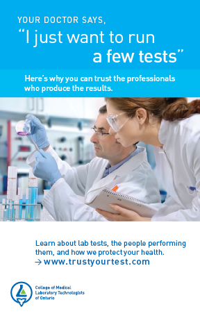 Trust Your Test Campaign Postcard